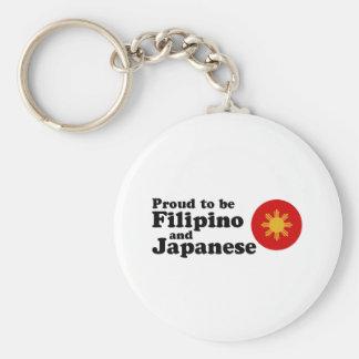 Filipino and Japanese Basic Round Button Keychain