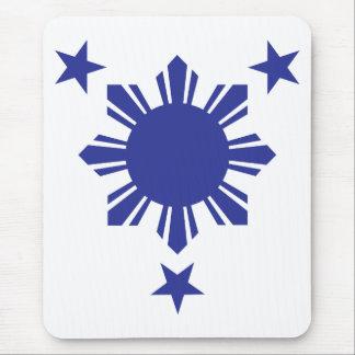 Filipino Basic Sun and Stars - Blue Mouse Pad