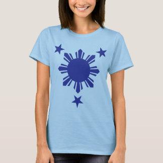 Filipino Basic Sun and Stars - Blue T-Shirt