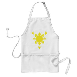 Filipino Basic Sun and Stars - Yellow Adult Apron