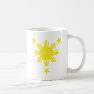 Filipino Basic Sun and Stars - Yellow Coffee Mug