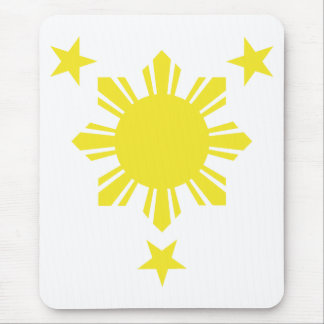 Filipino Basic Sun and Stars - Yellow Mouse Pad
