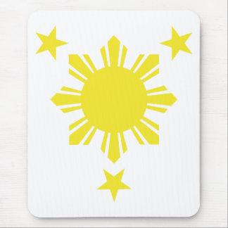 Filipino Basic Sun and Stars - Yellow Mouse Pad