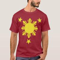 Filipino Basic Sun and Stars - Yellow T-Shirt