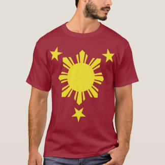 Filipino Basic Sun and Stars - Yellow T-Shirt