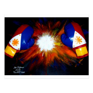 FILIPINO BOXER - BOXING PRIDE OF THE PHILIPPINES POSTCARD