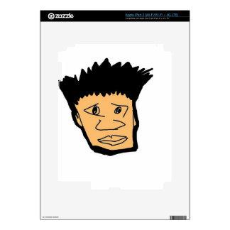 filipino boy  cartoon face collection decal for iPad 3
