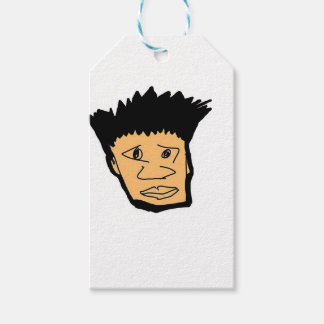 filipino boy  cartoon face collection gift tags