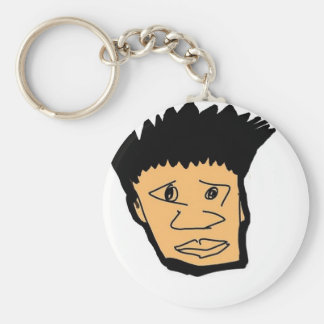 filipino boy  cartoon face collection keychain