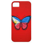 Filipino Butterfly Flag on Red iPhone 5 Covers