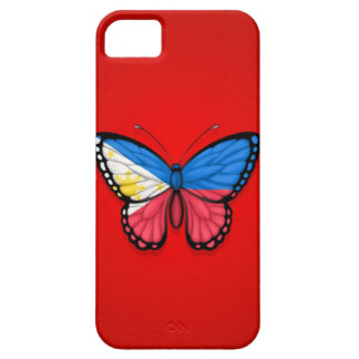 Filipino Butterfly Flag on Red iPhone SE/5/5s Case