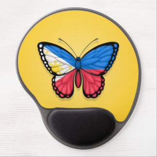 Filipino Butterfly Flag on Yellow Gel Mouse Pad