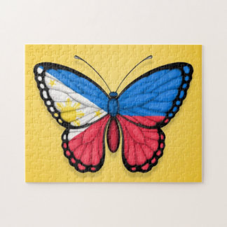 Filipino Butterfly Flag on Yellow Puzzles