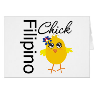 Filipino Chick Greeting Card