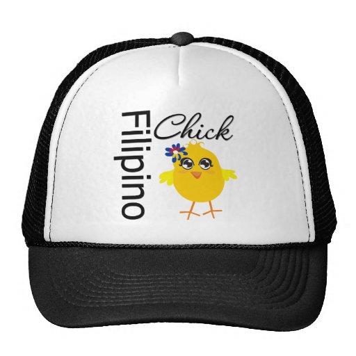 Filipino Chick Trucker Hat