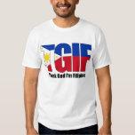 Filipino de TGIF con la bandera filipina Polera