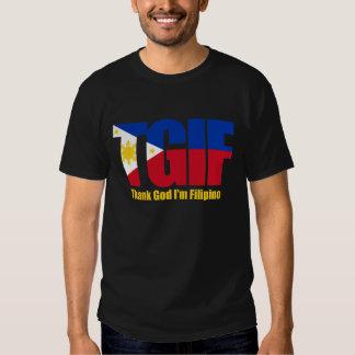 Filipino de TGIF con la bandera filipina Remera