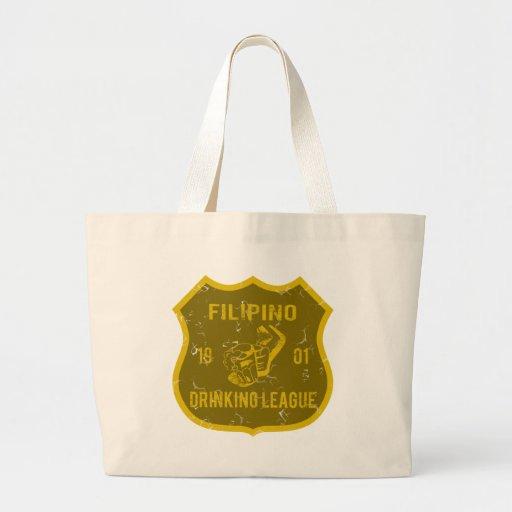 Filipino Drinking League Jumbo Tote Bag