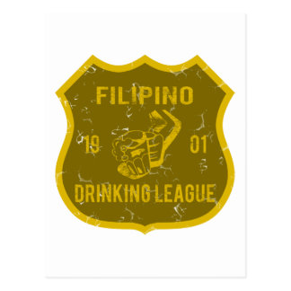 Filipino Drinking League Postcard