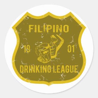 Filipino Drinking League Sticker