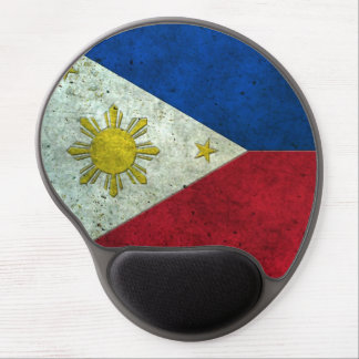 Filipino Flag Aged Steel Effect Gel Mouse Pad