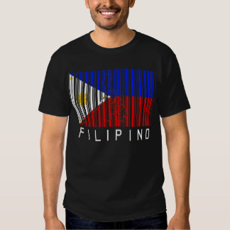 Filipino Flag Barcode T-shirt