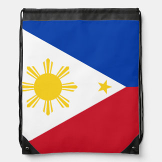Filipino flag cinch bags