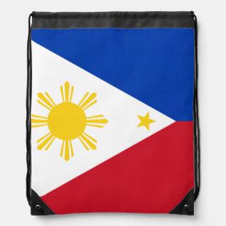 Filipino flag drawstring bag