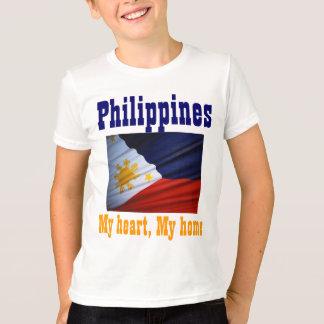 Filipino flag kids t-shirts