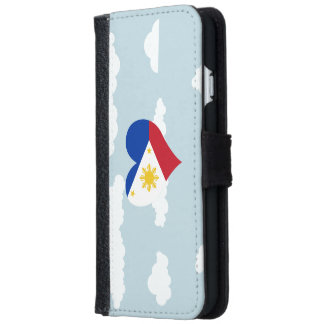 Filipino Flag on a cloudy background iPhone 6 Wallet Case