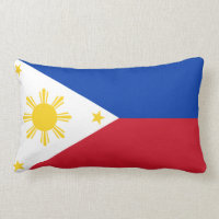 Filipino flag pillow