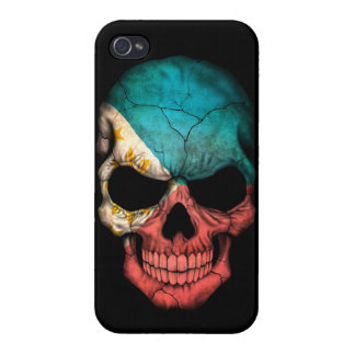 Filipino Flag Skull on Black iPhone 4 Covers