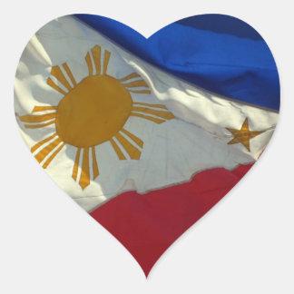filipino flag heart sticker
