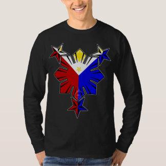 Filipino Flag Sun and Stars Long Sleeve Shirt