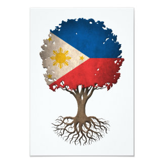 Filipino Flag Tree of Life Customizable Card
