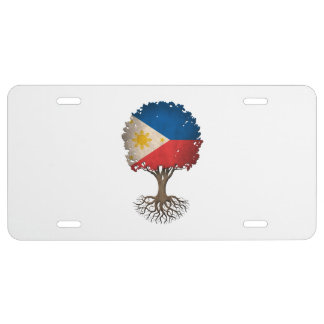 Filipino Flag Tree of Life Customizable License Plate