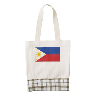 Filipino Flag Zazzle HEART Tote Bag