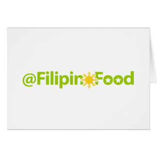 Filipino Food Card