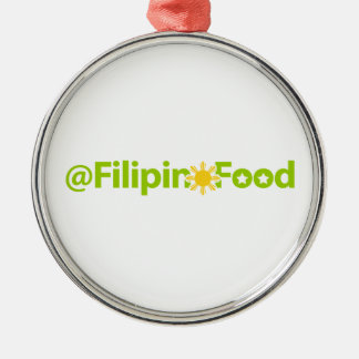 Filipino Food Metal Ornament