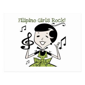 Filipino Girls Rock Postcard
