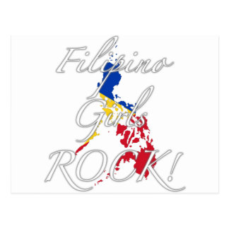 Filipino Girls Rock! Postcard