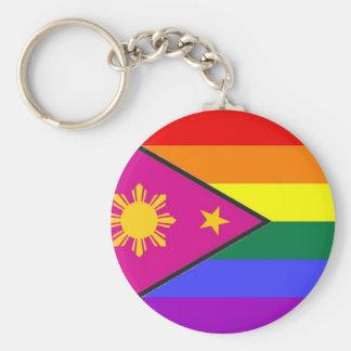 Filipino GLBT Pride Flag Keychain