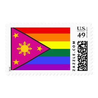 Filipino GLBT Pride Flag Postage Stamp