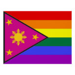 Filipino GLBT Pride Flag Posters