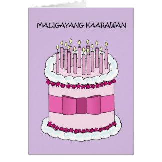 Filipino Happy Birthday Card