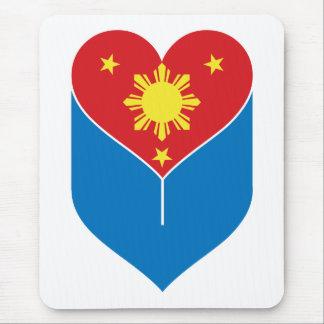 Filipino Heart Flag Mouse Pad
