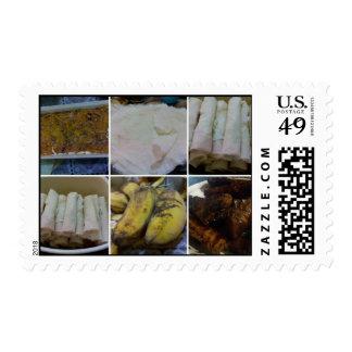 Filipino Homemade Food Dessert Mosaic Stamp