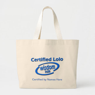 Filipino Lolo Gift – Certified Lolo Wisdom Inside Large Tote Bag