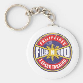 Filipino N Proud Basic Round Button Keychain