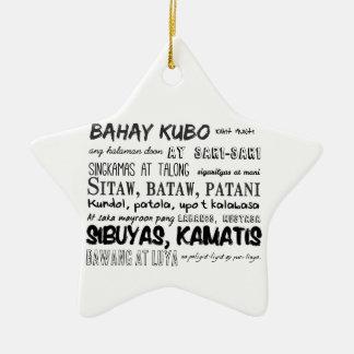 Filipino Nursery Rhyme Series Ceramic Ornament